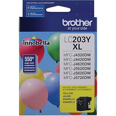 Brother LC-203YS (LC203YS) Hi Yield Yellow Ink Cartridge