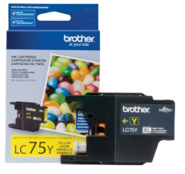 Brother LC75Y (LC-75Y) High Yield Yellow Ink Cartridge