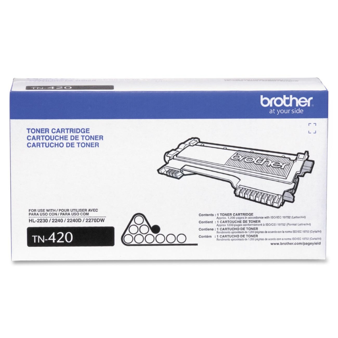 Brother TN420 (TN-420) Black Toner Cartridge