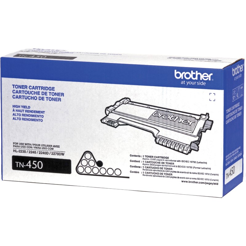 Brother TN450 (TN-450) Black Toner Cartridge - High Yield
