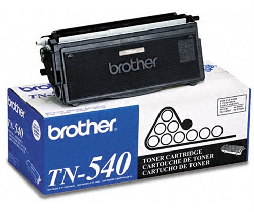 Brother TN-540 (TN540) Black Toner Cartridge - Standard Yield
