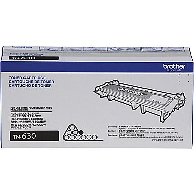 Brother TN-630 (TN630) Black Toner Cartridge - Standard Yield
