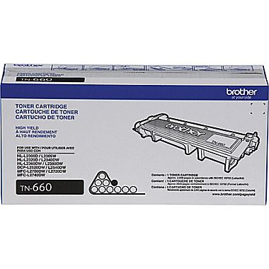 Brother TN-660 (TN660) Black Toner Cartridge