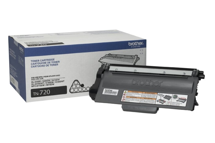 Brother TN720 (TN-720) Black Toner Cartridge - High Yield