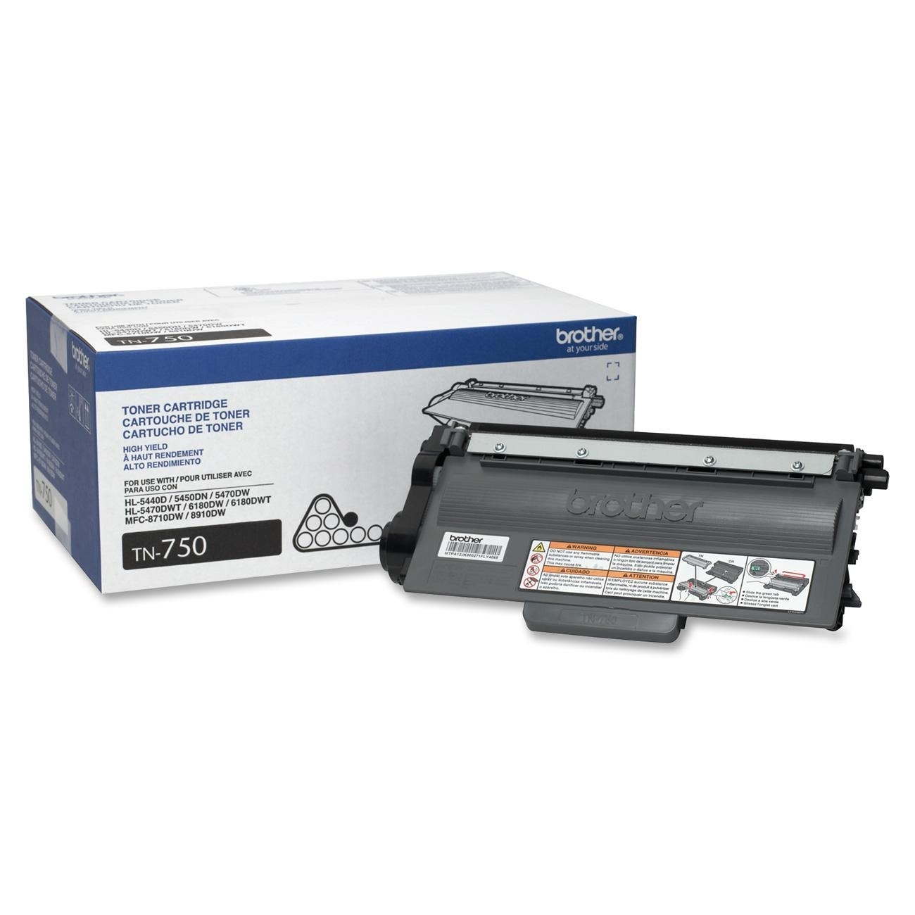 Brother TN750 (TN-750) Black Toner Cartridge - High Yield