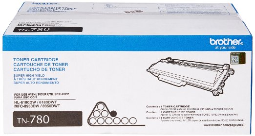 Brother TN-780 (TN780) Black Toner Cartridge - Extra High Yield