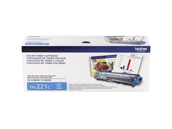 Brother TN-221C (TN221C) Cyan Toner Cartridge