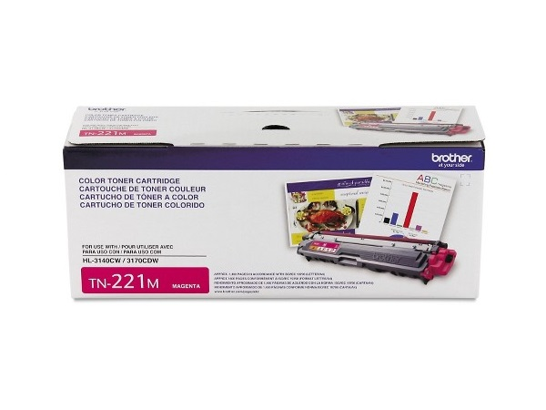 Brother TN-221M (TN221M) Magenta Toner Cartridge