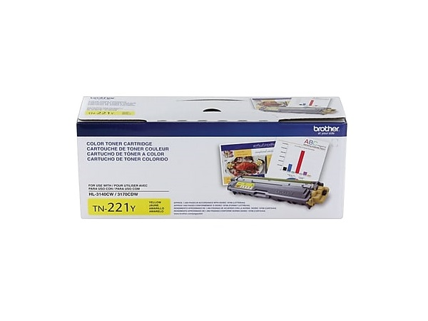 Brother TN-221Y (TN221Y) Yellow Toner Cartridge