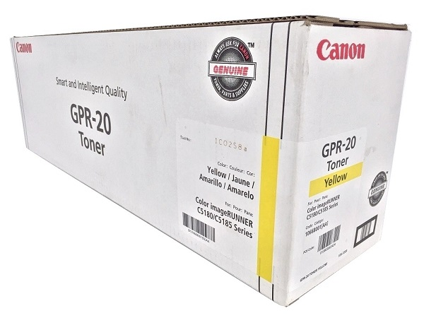 Canon 1066B001AA (GPR-20) Yellow Toner Cartridge - High Yield