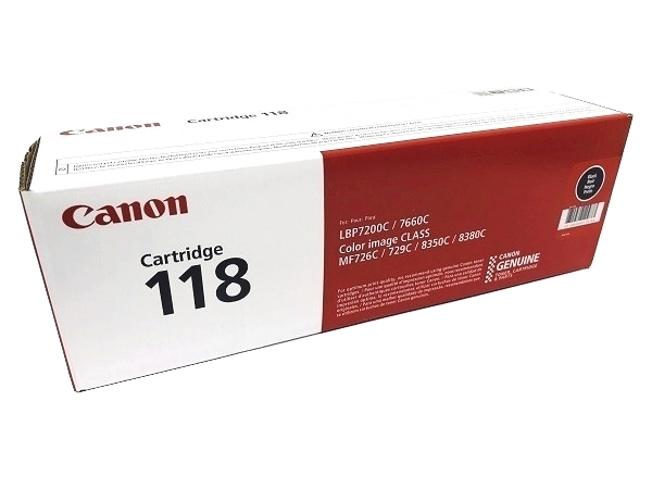 Canon 2662B001AA (Cartridge 118) Black Toner Cartridge