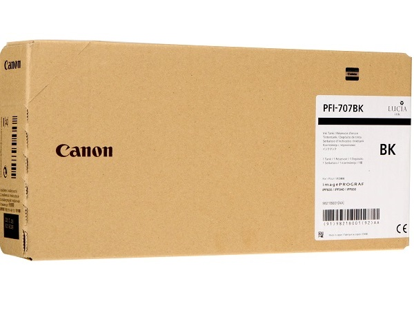 Canon 9821B001 (PFI-707BK) 700 ml Black Ink Cartridge