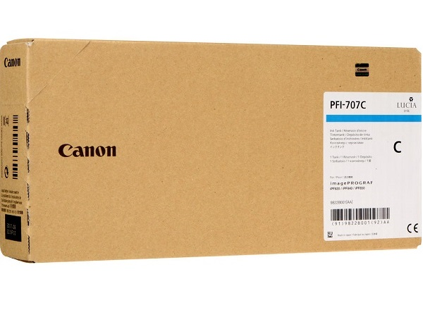 Canon 9822B001 (PFI-707C) 700 ml Cyan Ink Cartridge