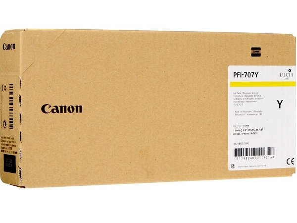 Canon 9824B001 (PFI-707Y) 700 ml Yellow Ink Cartridge