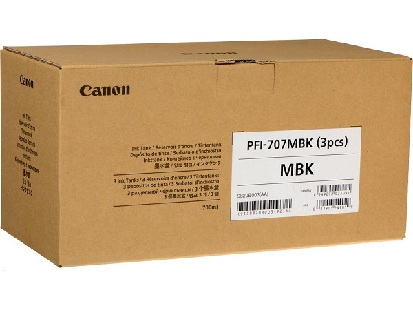 Canon 9820B001 (PFI-707MBK) 700 ml Matte Black Ink Cartridge