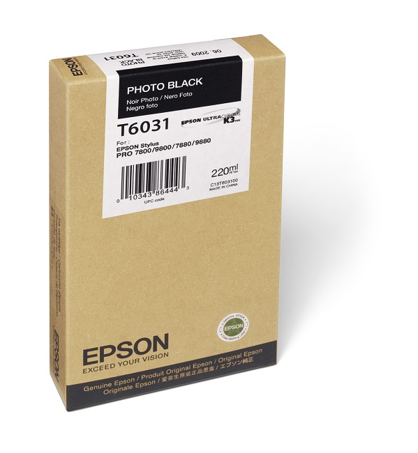 Epson T603100 Photo Black Ink Cartridge