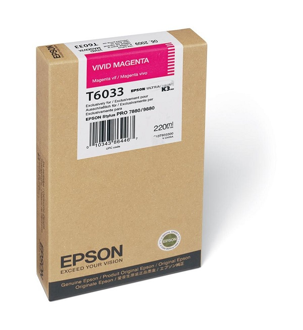 Epson T603300 Vivid Magenta Ink Cartridge