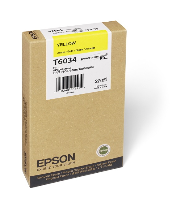 Epson T603400 Yellow Ink Cartridge