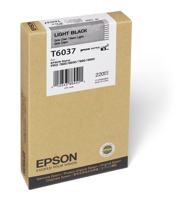 Epson T603700 Light Black Ink Cartridge