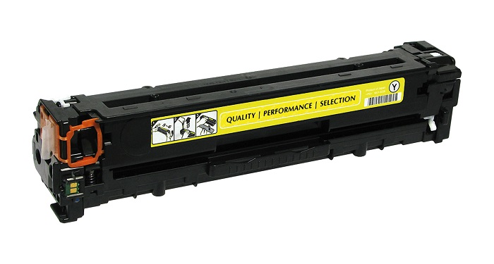 Compatible HP CB542A (125A) Yellow Toner Cartridge