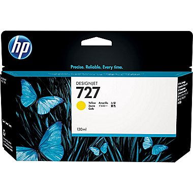 HP 727-Y (B3P21A) Yellow Ink Cartridge