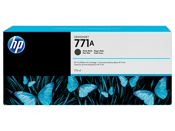 HP B6Y15A (771A) Matte Black Ink Cartridge