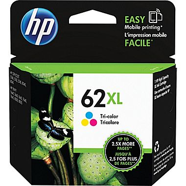 HP C2P07AN (HP 62XL) High Yield Tri-Color Ink Cartridge