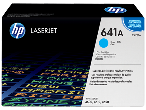 HP C9721A (641A) Cyan Toner Cartridge