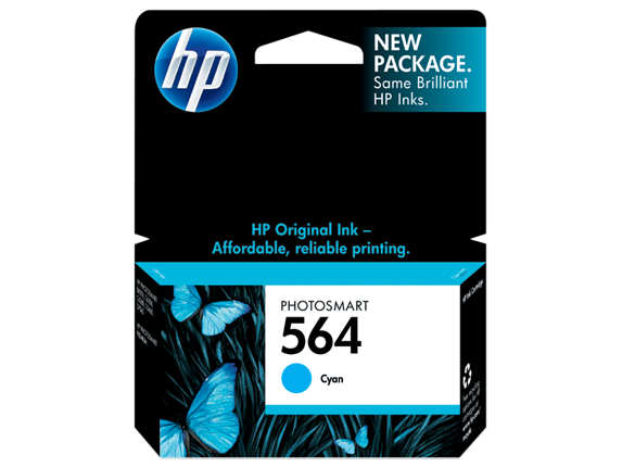 HP CB318WN (564) Cyan Ink Cartridge