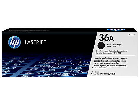 HP CB436A (36A) Black Toner Cartridge