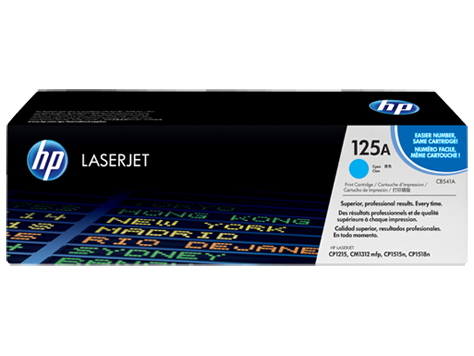 HP CB541A (125A) Cyan Toner Cartridge