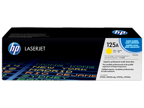 HP CB542A (125A) Yellow Toner Cartridge