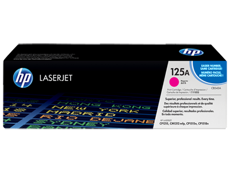 HP CB543A (125A) Magenta Toner Cartridge
