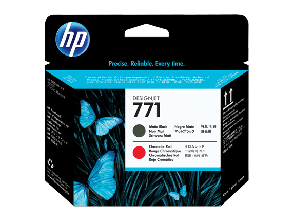 HP CE017A (771) Matte Black, Chromatic Red Printheads