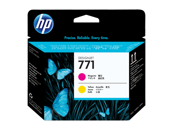 HP CE018A (771)  Magenta, Yellow Printheads