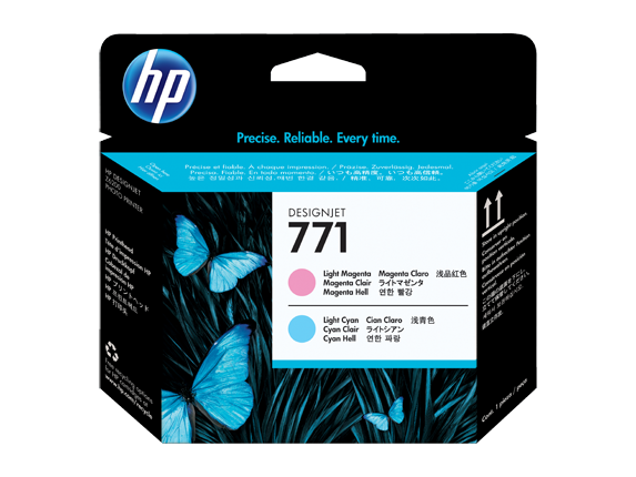 HP CE019A (771) Light Magenta, Light Cyan Printheads