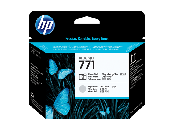 HP CE020A (771) Photo Black, Light Gray Printheads