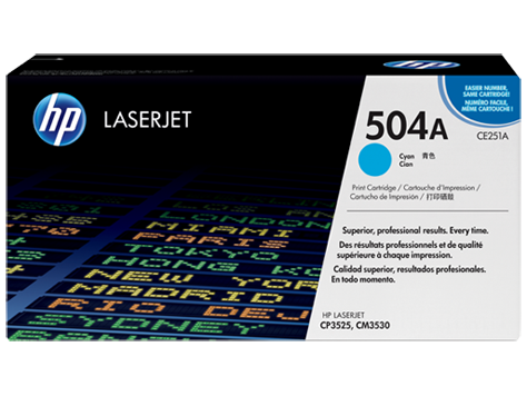 HP CE251A (504A) Cyan Toner Cartridge