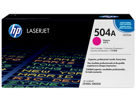 HP CE253A (504A) Magenta Toner Cartridge