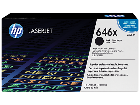HP CE264X Black Hi Yield Toner Cartridge