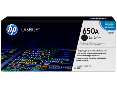 HP CE270A (650A) Black Toner Cartridge