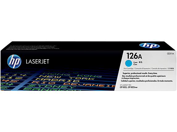 HP CE311A (126A) Cyan Toner Cartridge