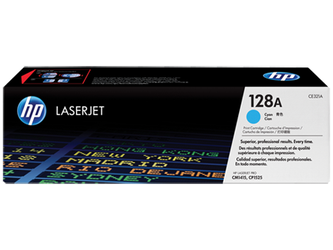 HP CE321A (128A) Cyan Toner Cartridge