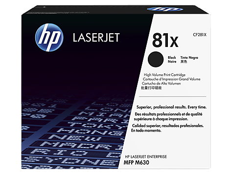 HP CF281X (81X) Black All- in- One Print Cartridge