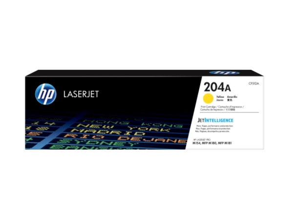 HP CF512A (204A) Yellow Toner Cartridge
