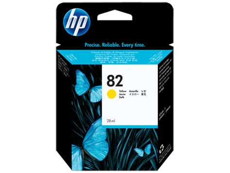 HP CH568A (82) Yellow Ink Cartridge