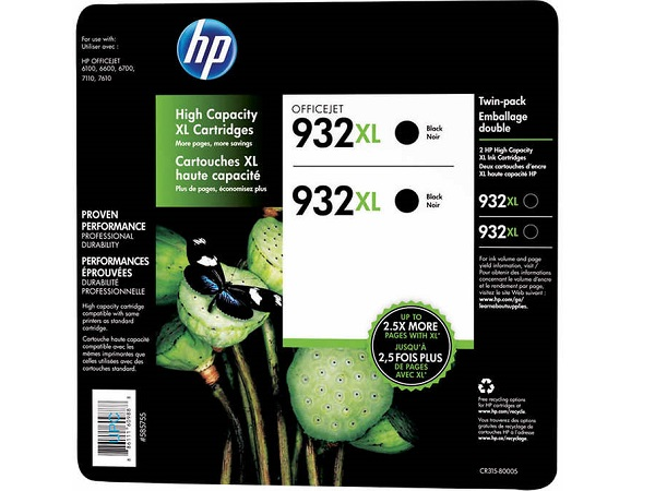 HP CR315BN Black Ink Cartridge Twin Pack