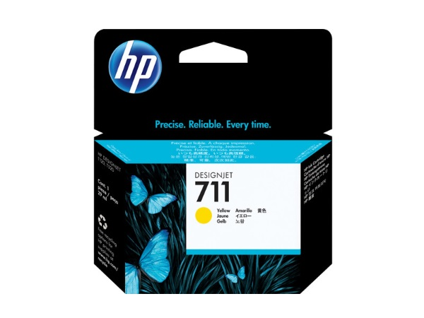 HP CZ136A (HP711) Yellow Ink Cartridge 3-pack