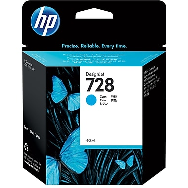 HP F9J63A (728) Cyan Ink Cartridge