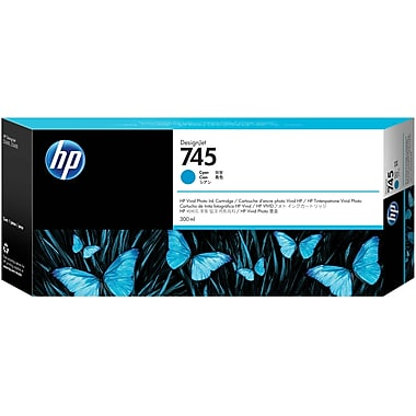 HP 745 (F9K03A) Cyan 300ml Ink Cartridge